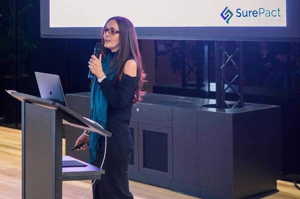 Megan presenting